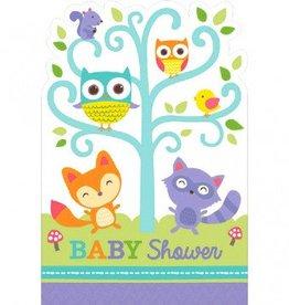 Amscan CARTE D'INVITATIONS-BABY SHOWER DANS LA FORET