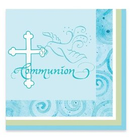 Creative Converting SERVIETTES DE TABLE-COMMUNION BLEU