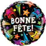 Qualatex BALLON MYLAR 18PO - BONNE FÊTE NOIR