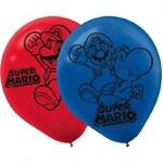 """Amscan SAC DE 6 BALLONS 12"""" EN LATEX - SUPER MARIO"""