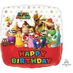 Anagram BALLON MYLAR 18PO - SUPER MARIO - HAPPY BIRTHDAY