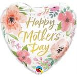 Qualatex BALLON MYLAR COEUR 18'' - HAPPY MOTHER'S DAY