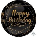 Anagram BALLON ORBZ  NOIR ET OR - HAPPY BIRTHDAY