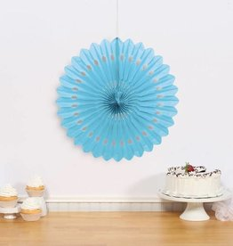 "Unique PAPER DECO FAN 16"" - PALE BLUE"