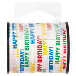 Unique RUBAN À FRISER 50YDS - HAPPY BIRTHDAY MULTICOLORE