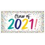 Amscan BANNIÈRE DE GRADUATION - CLASS OF 2021