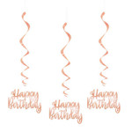 Unique DÉCORATION SUSPENDUE - HAPPY BIRTHDAY (ROSE GOLD)