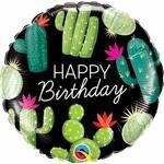 Qualatex BALLON MYLAR 18PO - HAPPY BIRTHDAY CACTUS
