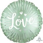 Anagram BALLON MYLAR 18PO - LOVE VERT