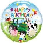 Qualatex BALLON MYLAR 18PO - HAPPY BIRTHDAY FARM