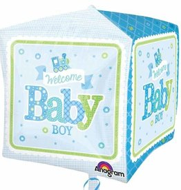 Anagram BALLON MYLAR CUBEZ TRAIN BABY BOY