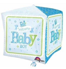 Anagram BALLON MYLAR CUBEZ TRAIN BABY BOY