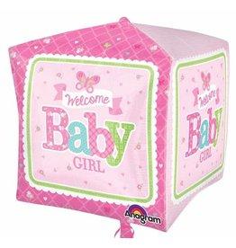Anagram BALLON MYLAR CUBEZ PAPILLON BABY GIRL