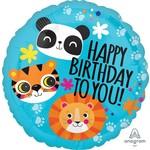 SKS BALLON MYLAR 18PO - LION, TIGRE, PANDA (HAPPY BIRTHDAY)