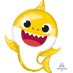 Anagram BALLON MYLAR SUPERSHAPE - BABY SHARK (REQUIN JAUNE)