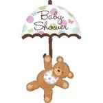 Anagram BALLON MYLAR SUPERSHAPE - BABY SHOWER OURSON PARAPLUIE