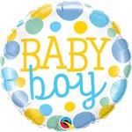 Qualatex BALLON MYLAR 18'' - BABY BOY POIS