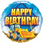 Qualatex BALLON MYLAR 18PO - HAPPY BIRTHDAY TRACTEUR