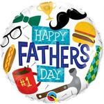 "Qualatex BALLON MYLAR 18"" - HAPPY FATHER'S DAY"