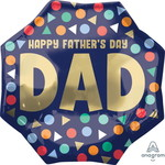 Anagram BALLON MYLAR SUPERSHAPE - HAPPY FATHER'S DAY DAD
