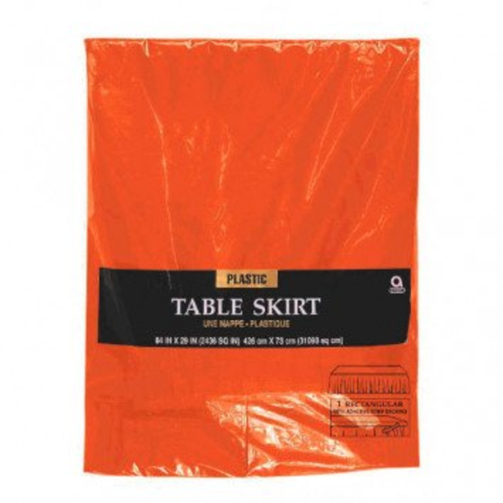 """Amscan JUPE DE TABLE EN PLASTIQUE 14'X29"""" -"""