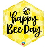 Qualatex BALLON MYLAR 18PO - HAPPY BEE DAY (ABEILLE)