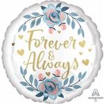Anagram BALLON MYLAR 18PO - FLORAL (FOREVER & ALWAYS)