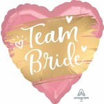 Qualatex BALLON MYLAR 18PO - TEAM BRIDE (ROSE ET OR)