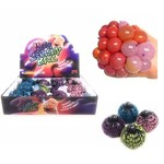 Handee Products BALLE SQUISHY 70MM AVEC FILET - COULEURS ASSORTIES