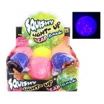 BALLE 9CM LUMINEUSE SQUISHY - COULEURS ASSORTIES