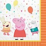 Amscan SERVIETTE DE TABLE ( 16 ) - PEPPA PIG