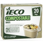 CONGLOM iECO SACS DE CUISINE COMPOSTABLE (20/BOITE)