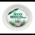 CONGLOM iECO ASSIETTES 9PO EN BAGASSE COMPOSTABLE (10/PK)