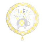 Unique BALLON MYLAR 18 PO - BABY (ÉLÉPHANT FLORAL JAUNE)