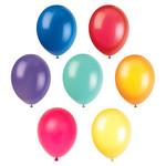 """Unique BALLONS LATEX 12"""" (10) - COULEURS ASSORTIES"""