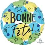 Anagram BALLON MYLAR 18PO - BONNE FÊTE! ÉTOILES