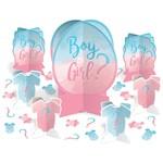 Amscan ENSEMBLE DE DÉCORATIONS POUR TABLE - BOY OR GIRL?