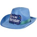 Amscan CHAPEAU DE FETE WESTERN - IT'S MY BIRTHDAY