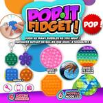 Groupe Ricochet PORTE-CLÉ POP IT FIDGET SERIE #1