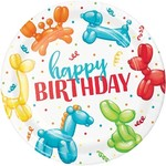 Party Creations ASSIETTES HAPPY BIRTHDAY (8) - PARTY ANIMAL BALLOONS