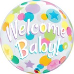 Qualatex BALLON BUBBLE - WELCOME BABY