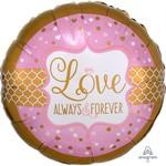 Anagram BALLON MYLAR JUMBO -LOVE ALWAYS & FOREVER
