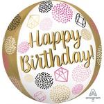 Anagram BALLON MYLAR ORBZ - HAPPY BIRTHDAY
