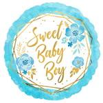 Anagram BALLON MYLAR 18PO - SWEET BABY BOY FLORAL