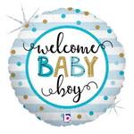 Anagram BALLON MYLAR 18PO - WELCOME BABY BOY