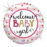 Anagram BALLON MYLAR 18PO - WELCOME BABY GIRL