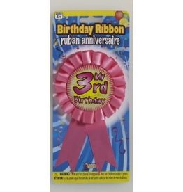 Forum Novelty RUBAN DE FÊTE - MY 3RD BIRTHDAY ROSE