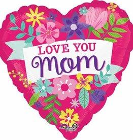 Anagram BALLON MYLAR SUPERSHAPE - LOVE YOU MOM