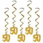 Beistle Co. DÉCORATIONS SUSPENDUES 50IEME ANNIVERSAIRE OR
