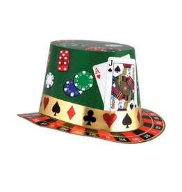 Beistle Co. CHAPEAU HAUTE FORME CASINO